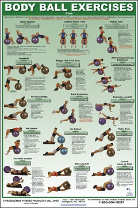 printable exercise ball workouts weight training posters sculpting made simple balance