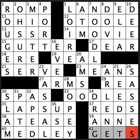 Sweepstakes Crossword Clue - crossword puzzle answers july 10 2017 metro us autos post