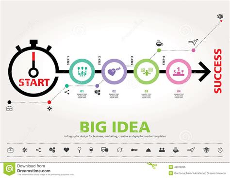 graphic design template time for success template modern info graphic design