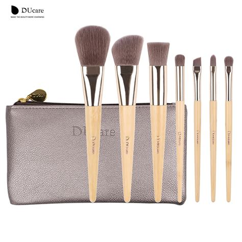 Bambu Brush Make Up 7 Set Bamboo Set Kuas Kosmetik Alat Kecantikan ducare make up brushes set 7pcs bamboo foundation