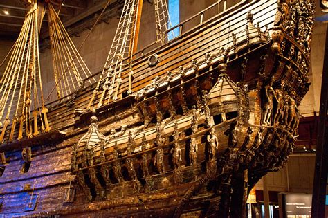 gustav vasa ship vasa museet one museum exhibit in stockholm sweden