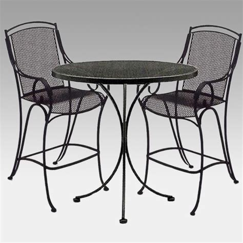 woodard modesto high patio dining set outdoor bistro
