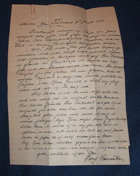 Thank You Letter To In German Ww2 German Pow Letter Of Thanks To Us Officer Collectors