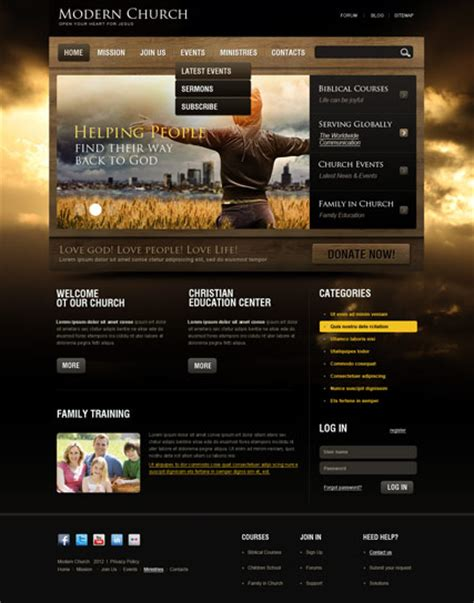 Modern Church Joomla Theme Church Website Templates