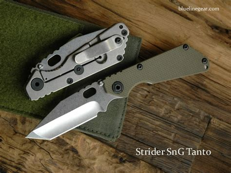 strider tanto blue line gear product details strider sng tanto