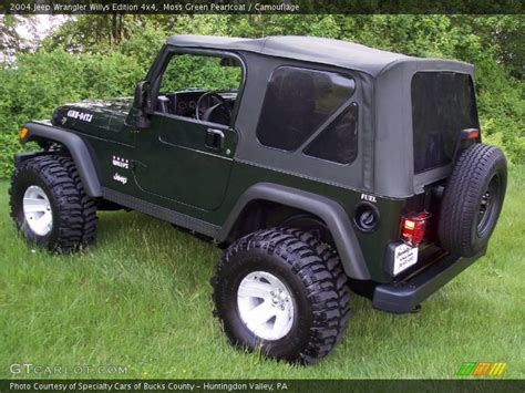 2004 Jeep Wrangler Willys 2004 Jeep Wrangler Willys Edition 4x4 In Moss Green