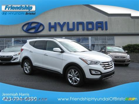 hyundai santa fe sport 2 0t 2013 hyundai santa fe sport 2 0t awd in white pearl