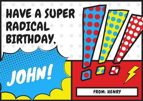 Comic Birthday Card Template by Customize 884 Birthday Card Templates Canva