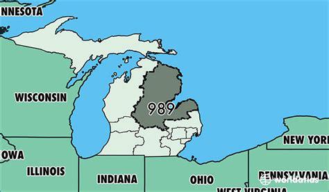 us area code michigan where is area code 989 map of area code 989 saginaw