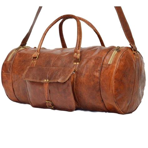 How To Make Handmade Leather Bags - vintage leather travel bag for and for