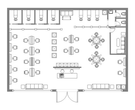 floor plan of a salon floor plan visio alternative for linux visio like