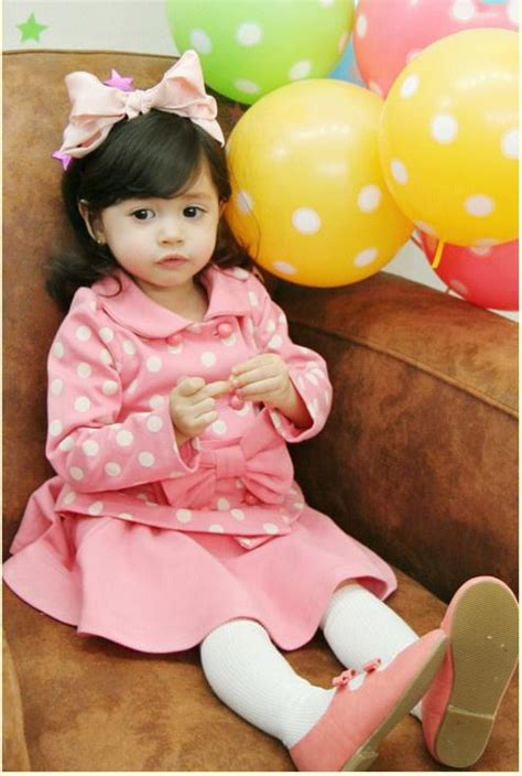 Dress Anak Korea Pink Baloon 2017 2013 korean version set pink dresses with butterfly knot white dot sleeve