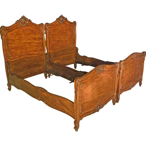 fancy beds fancy pair inlaid twin beds from antiquesonhanover on ruby