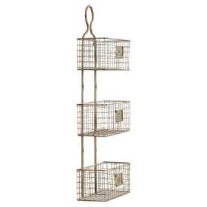 Wire Wall Shelf Lark Manor 3 Tier Wire Basket Wall Shelf Reviews Wayfair