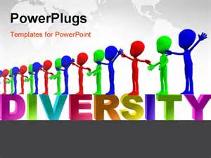Diversity Powerpoint Templates Free by A Row Of Colourful Figures Representing Multiculturalism