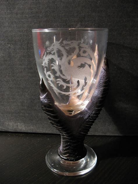 game of thrones wine glasses game of thrones style wine glass with polymer clay dragon claw
