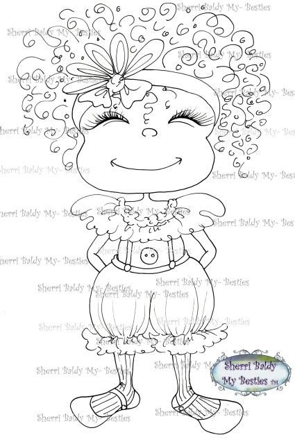sherri baldy my besties adorable lil monsters coloring book 2 books my besties img970 sherri baldy digi st qt s tm