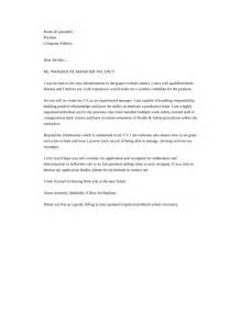 Warehouse Cover Letter Template by Basic Warehouse Manager Cover Letter Sles And Templates