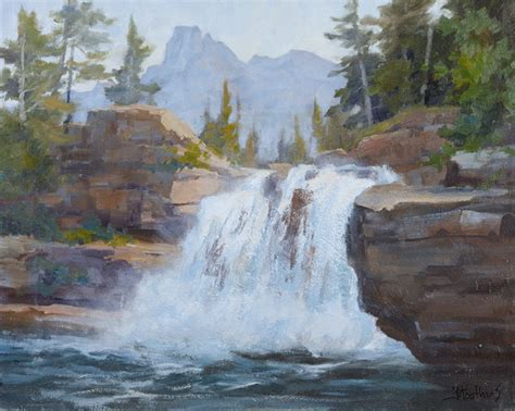 acrylic painting waterfalls landscape painting artist johannes vloothuis watercolor