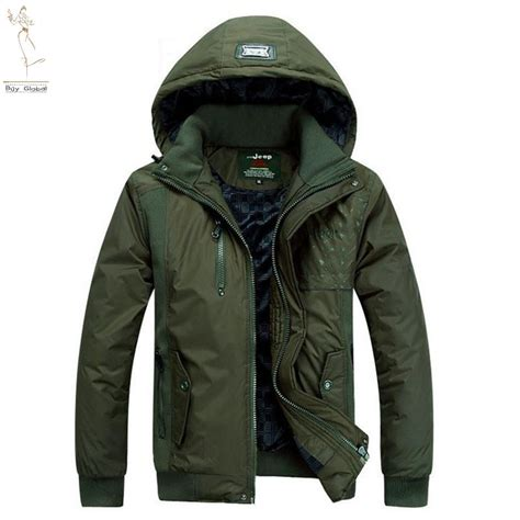 brand casual canada mens cotton jacket army green outwear