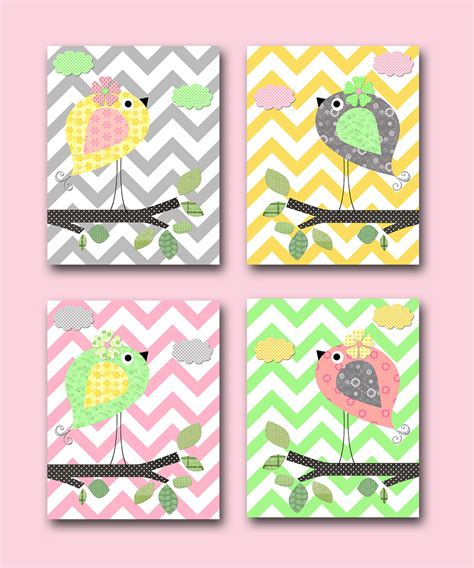 Bird Decor Bird Nursery Baby Girl Nursery Decor By Bird Nursery Decor