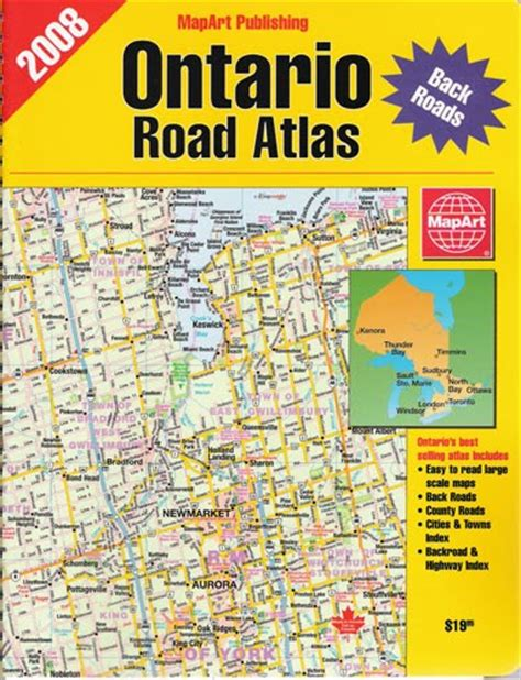 atlantic canada back road atlas books mapart publishing source for maps atlase new