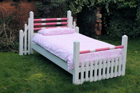 Handmade Childrens Beds - mad of show jumping themed pony beds
