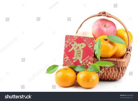 apples and oranges for new year new year decoration basket of apples and oranges