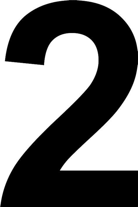 Number 2 black and white PNG Image - PurePNG | Free