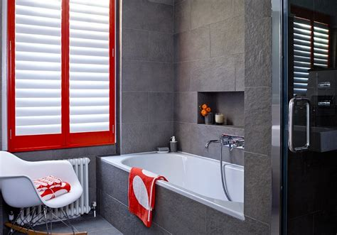 enhancing your interiors with modern wood shutters creative window treatment ideas for your bathroom