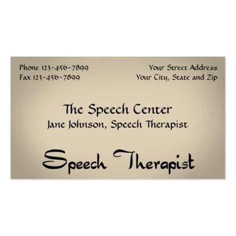Speech Therapist Business Card Templates by The 157 Best Images About Speech Pathologist Business