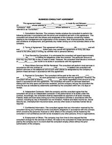 business consultant agreement template free business consultant agreement template free