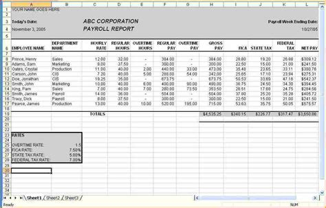 6 Payroll Excel Sheet Secure Paystub Payroll Calculator Template For Excel