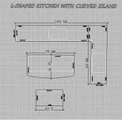 nice How To Measure Countertops #1: L_shaped-kitchen-with-curved-island.jpg