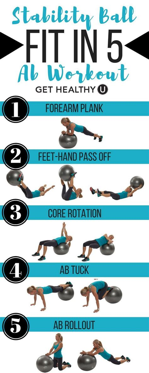 fit in these 5 ab exercises to strengthen your and back using a stability to blast