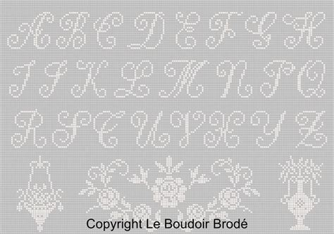 Modèles De Lettre à Broder Grille Point De Croix Ab 233 C 233 Ancien I Le Boudoir Brod 233