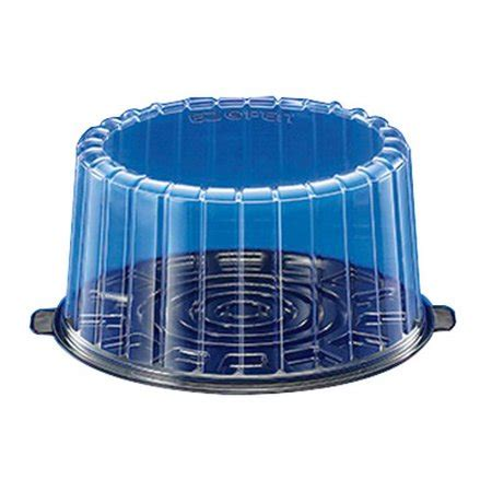10 inch plastic cake container dome lid inline plastics ez open layer cake container with
