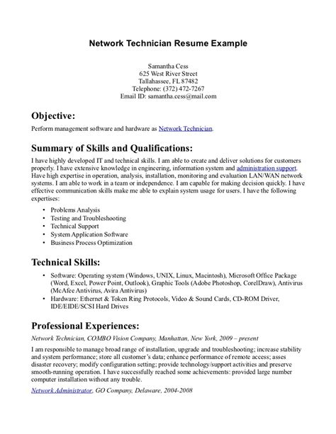 Tech Resume Pharmacy Tech Resume Sles Sle Resumes