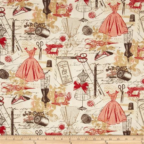printable fabric wholesale timeless treasures vintage sewing red discount designer