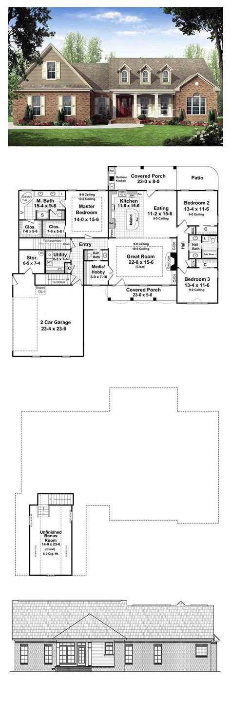 ranch floor plans with great room ranch house plans picmia