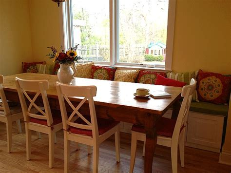 Maribeth's kitchen after banquette table   Hooked on Houses