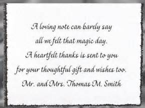 thank you for wedding gift wording wedding thank you card wording step by step weddings made easy site