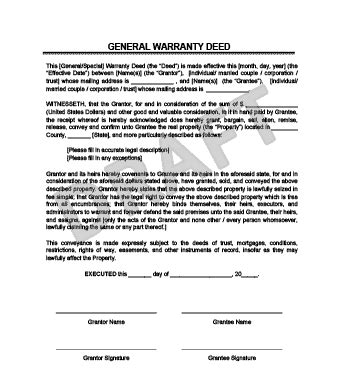 Warranty Deed Legal Templates Michigan Warranty Deed Template