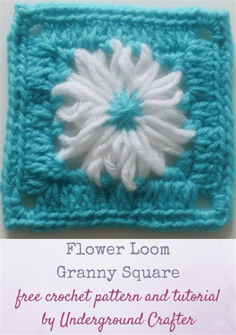 video tutorial granny square flower loom granny square free crochet pattern with video