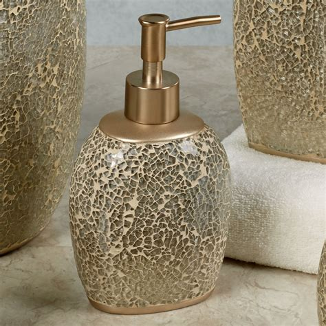 Glass Mosaic Bathroom Accessories Huntington Chagne Mosaic Bath Accessories