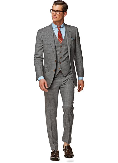 Light Grey Suits by Suit Light Grey Check Lazio P3802 Suitsupply Store