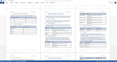 Implementation Plan Template Ms Word Software Implementation Plan Template