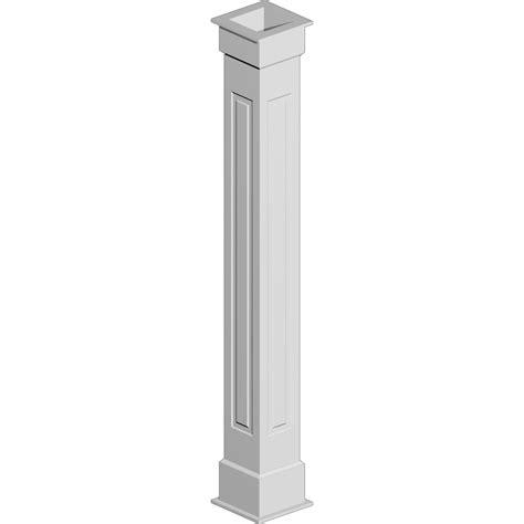 Interior Column Wrap Kits by Cwktnr Raised Panel Non Tapered Fypon Column Wrap Kit