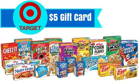 Where Can I Buy A Target Gift Card - free 5 target gift card wyb 5 kellogg s products southern savers