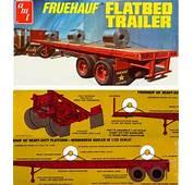 Fruehauf Flatbed Trailer With Load 1/25 Fs